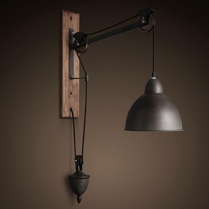 Industrial Tray 1-Light Adjustable Swan-neck Wall Light Shade Indoor