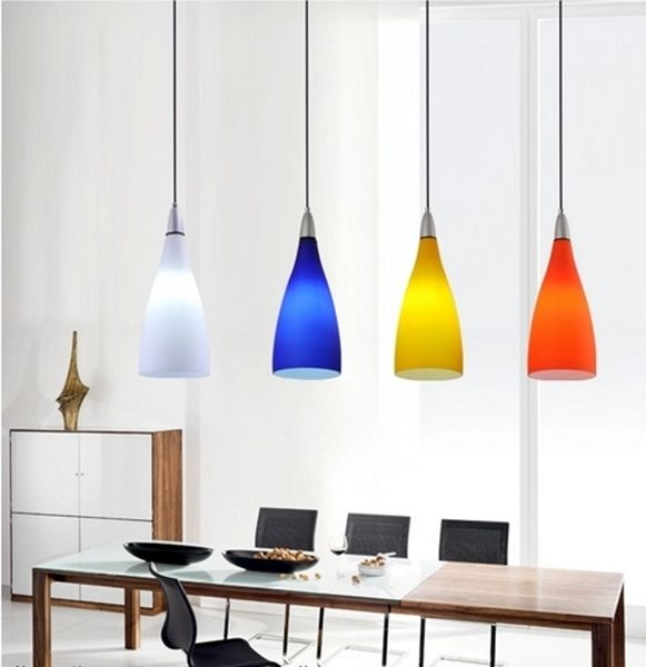 4 colors modern lbl lighting drop line voltage pendant glass lamp fixture lighting