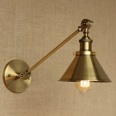 Retro Vintage Industrial Adjustable Arm Light Wall Sconce Office Studio Lighting