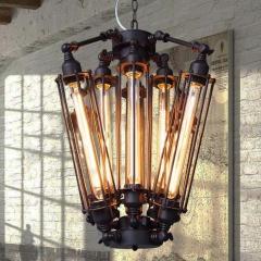 Vintage Industrial Metal Steampunk Edison Bulb Pendant Hanging Lamp / Flush Mount