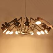 industrial style of 16 arms dear ingo replica chandelier suspension lamp