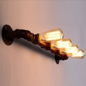 Warehouse Steampunk Light Industrial Pipe Sconce Wall Lamp Lighting Fixture