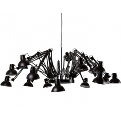 Arms Chandelier Suspension Lamp White/Black
