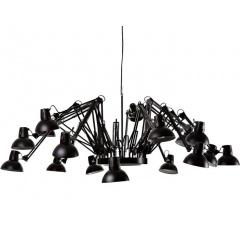 Arms Dear Ingo Replica Chandelier Suspension Lamp White/Black
