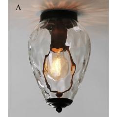 Flush Mounted Ceiling Lamp Chandelier Light Glass Hanging Pendant Lamp