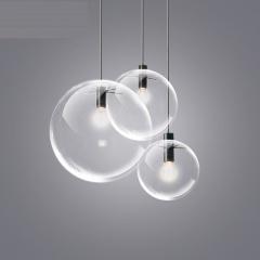 4 Sizes Pendant Lamp Transparent Glass Ball Lampshade