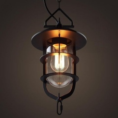 Edison Bulb Cage Rustic Loft Industrial Retro Pendant Lamp Ceiling Light