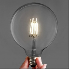 Edison Retro Style - LED Bulbs Large Round G125 6W  (3 or 6 pack)