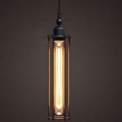Vintage Industrial Metal Loft Bar Lamp Ceiling Pendant Light Cage Black