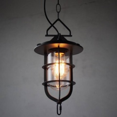 Metal Cage Industrial Pendant Light