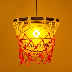 Vintage Basketball Pendant Light Acrylic Ceiling Lamp Retro Pendant Fixture