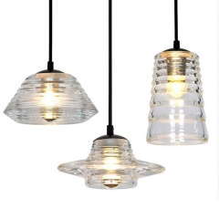 Pressed Glass Bowl Pendant Light