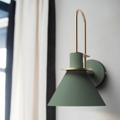 Horn Shape Wall Light Green