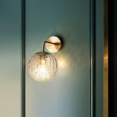 Art Deco Glass Ball Wall Light