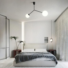 Minimalist 2 Head Branch Pendant Light