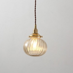 Vintage Anemone Glass Ball Pendant Light