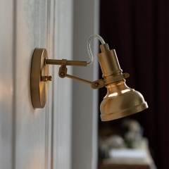Mill House Short Arm Brass Wall Light
