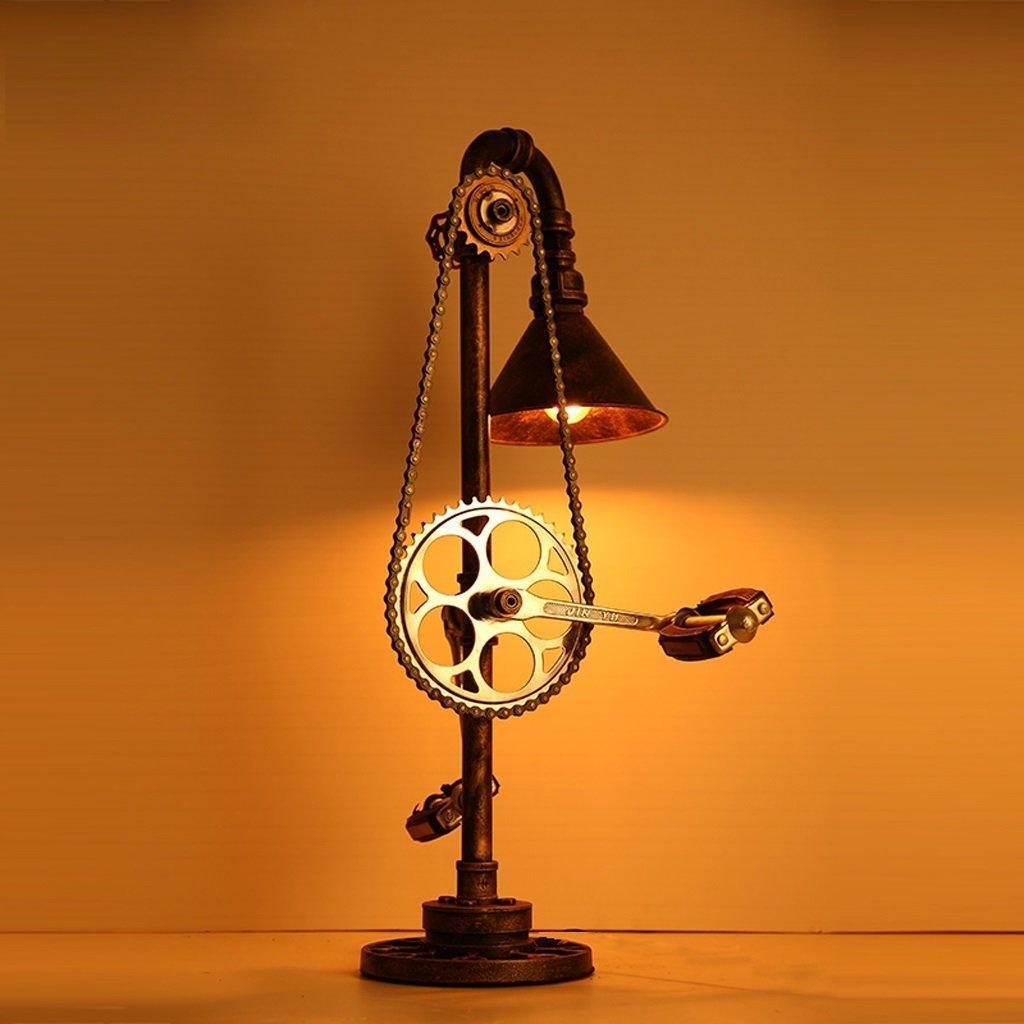 Retro Table Lamp E27 Simulation Bike Pedal Table Lamp Water Pipe Lamp
