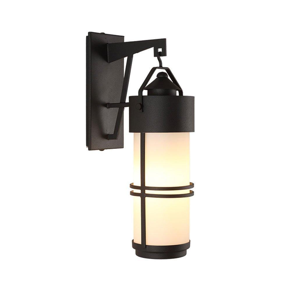 Retro Outdoor Waterproof Black Iron Wall Lamp