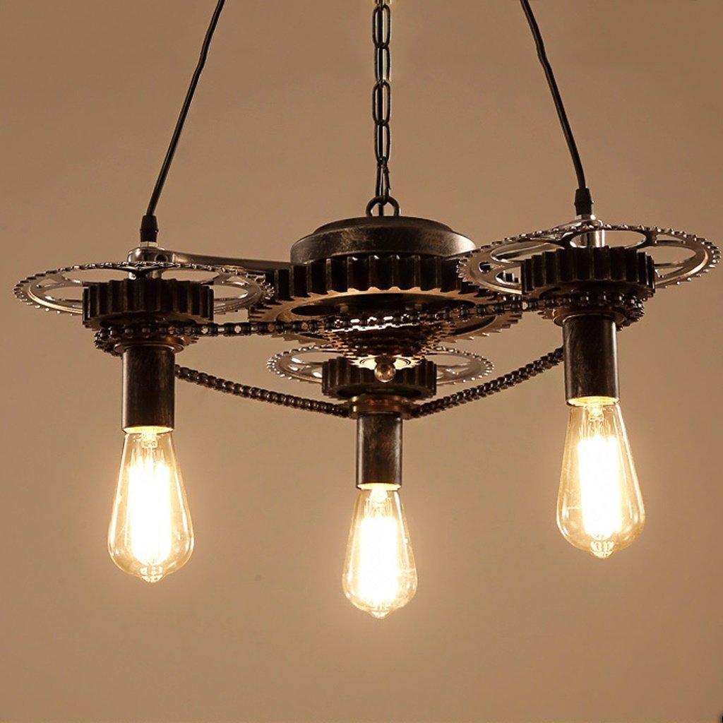 Retro Industrial Wind Chandelier Creative Iron Gear Lamps