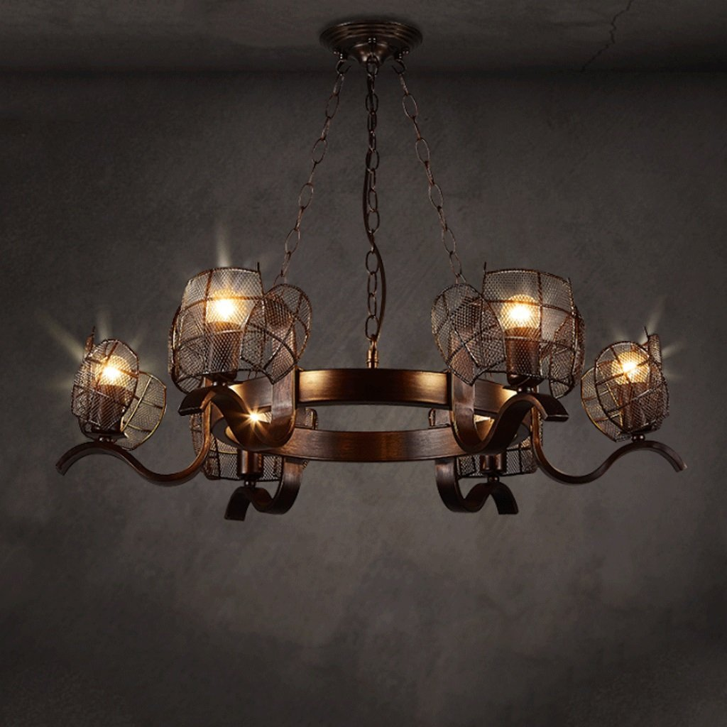 Industrial Winds 6 Head Chandeliers Diameter 31 Inchs (79cm) Height 7.1 Inchs (18cm)