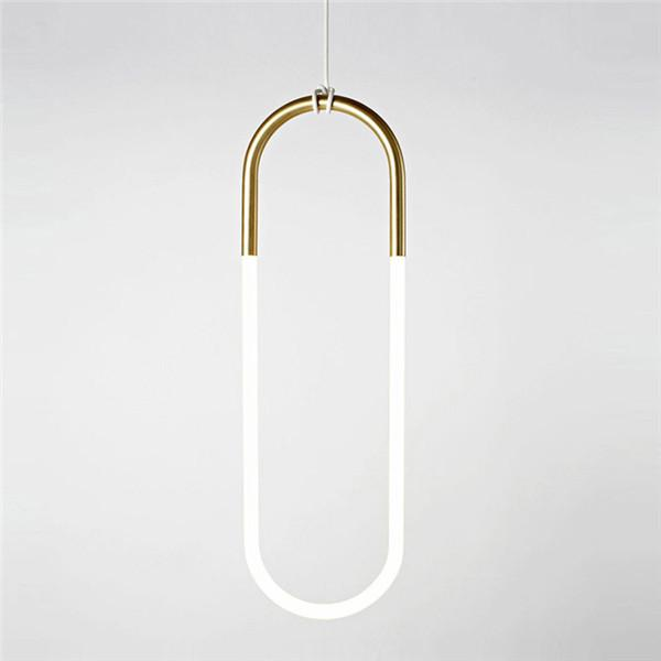 Single Loop Shape Pendant Light