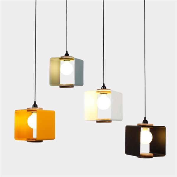 Modern Wood Metal Pendant Light