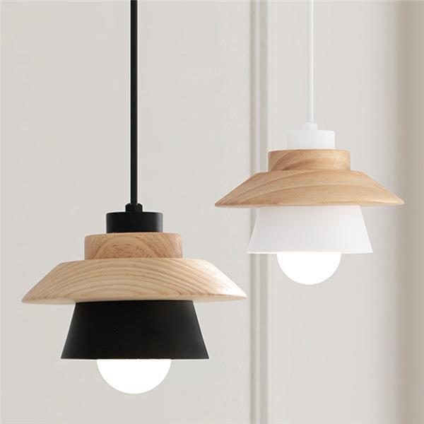 Modern Wood Bar Pendant Light