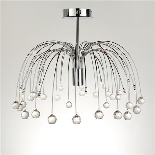 Crystal Chandelier In Firework Shape Ceiling Lamp