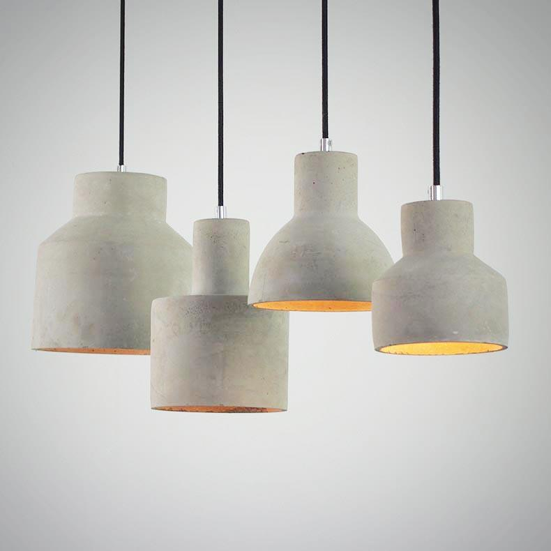 Concrete Minimalist Pendant Light