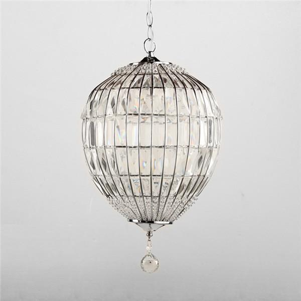 Modern 1-Light Creative Crystal Pendant Lamp