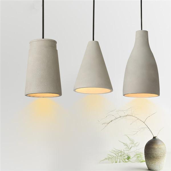 Antiqued Concrete Pendant Hanging Light
