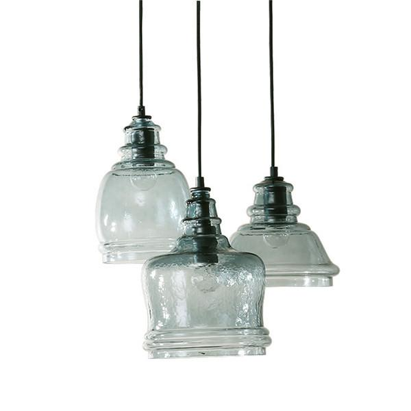 A/B/C Elegant Glass Shade Pendant Lamp