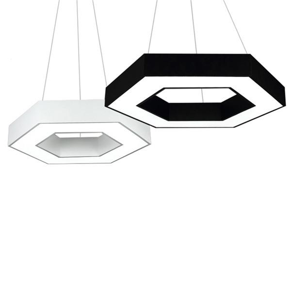 Geometry Black White 48W LED Pendant Lamp