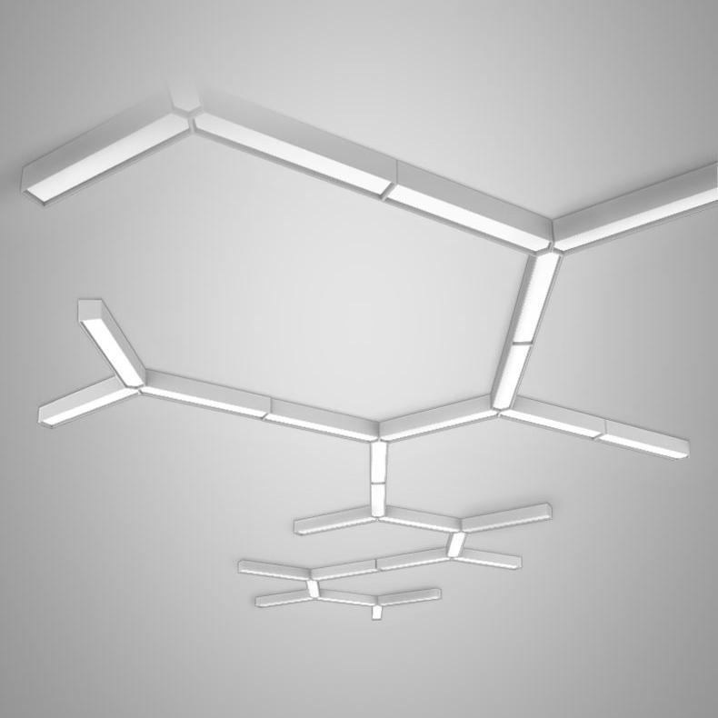 Trapezium White Modular Minimalist Ceiling and Wall Light