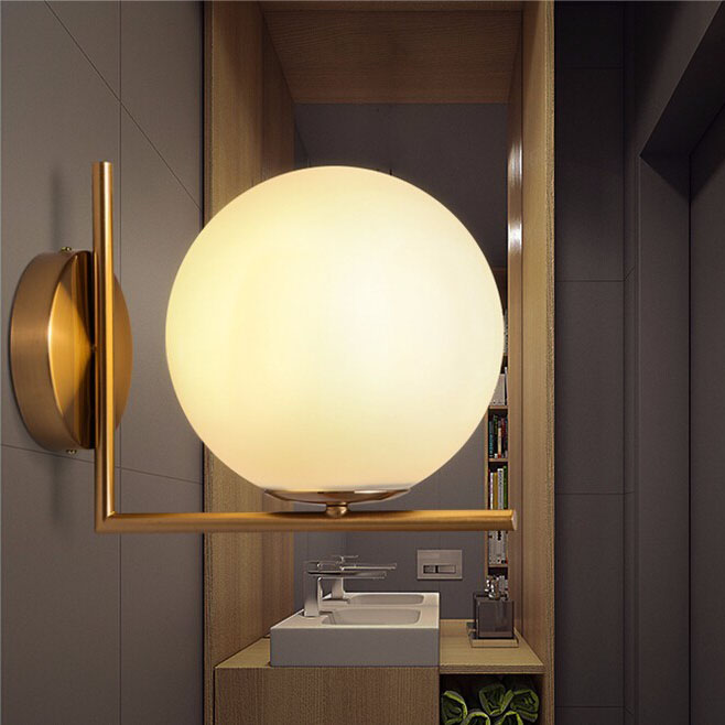 Glass Ball Wall Lamps Postmodern Inspired by Flos