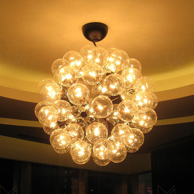 Modern Creative Glass Bubble Dandelion Pendant lamp Ceiling Fixture