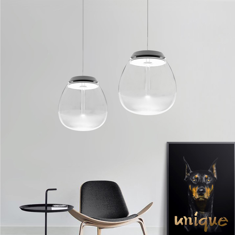 LED Pendant Light Empathize Glass Shade Modern Style
