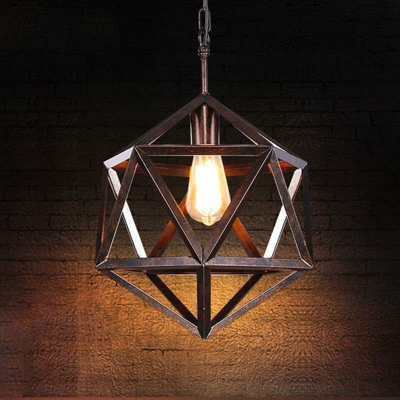 Industrial Rustic Loft Suspension Pendant Fixture Ceiling Lamp