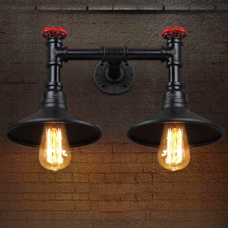 Nordic Style Industrial Water Pipe Vintage Wall Sconce Indoor Lamp