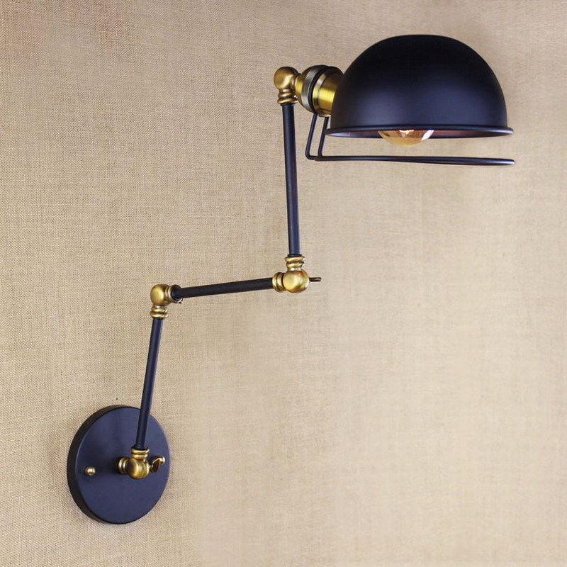 France RH Loft Retro Industrial Adjust Long Arm Wall Lamp Fixtures