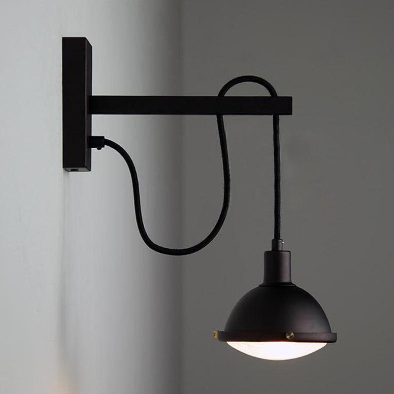 Adjustable Vintage Loft Pulley Wall Sconce Antique Lamp Cuisine Light Luminaire