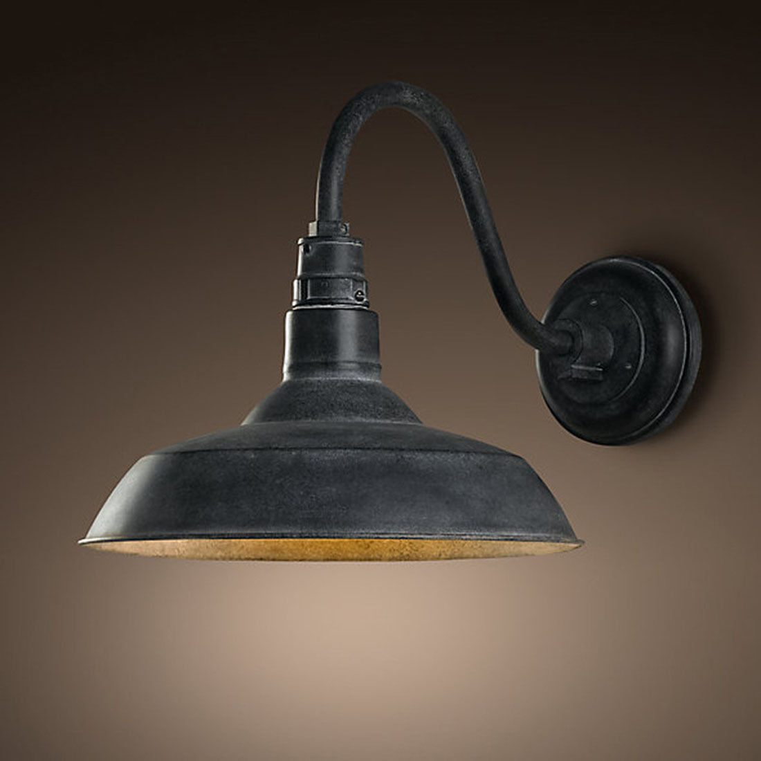 Retro Industrial Gooseneck Barn Wall Light Lamp Fixture Vintage Wall Sconce