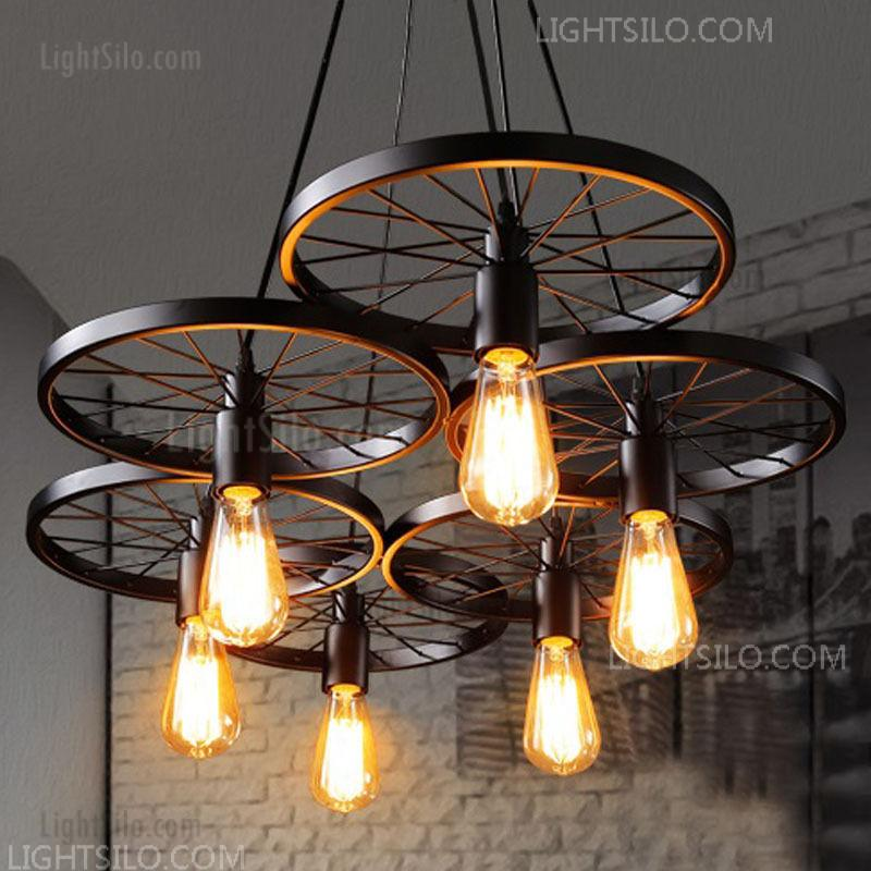 Light Fixture Large Rustic Lighting Ceiling