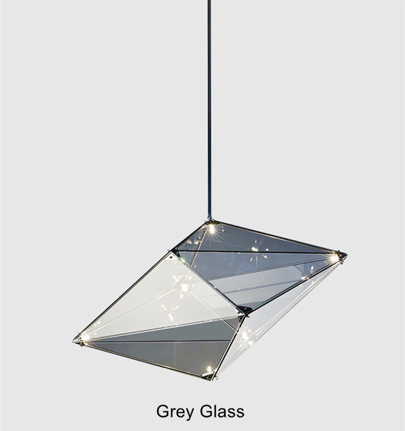 Modern LED Glass Diamond Pendant Light Ceiling Lamp Fixture