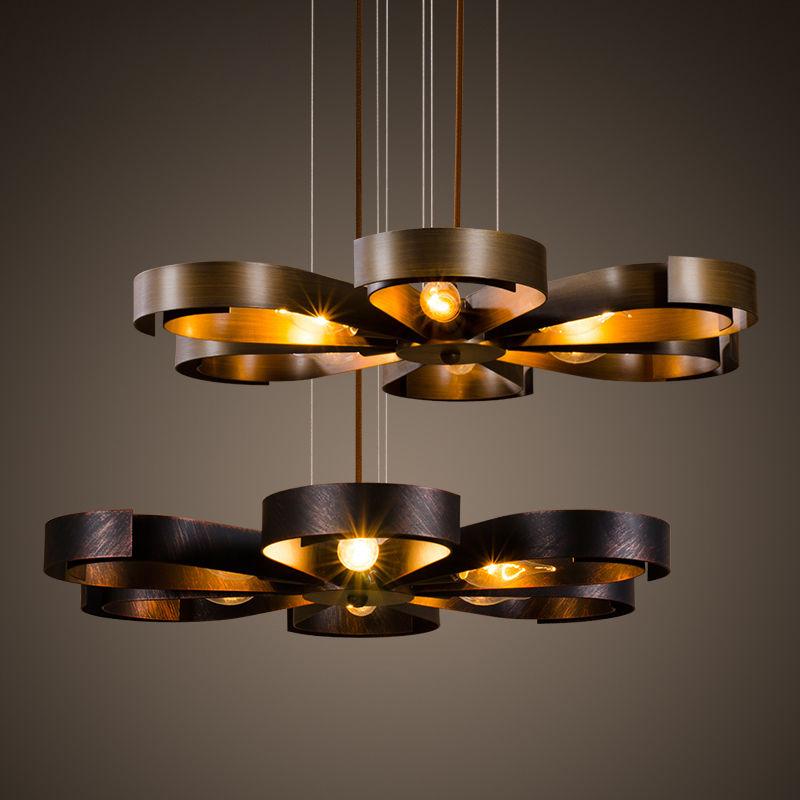 Industrial Retro Flower Ceiling Light Loft Pendant Lamp