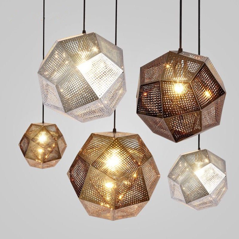 Gold/Silver Modern Etch Pendant Lamp Suspension Light