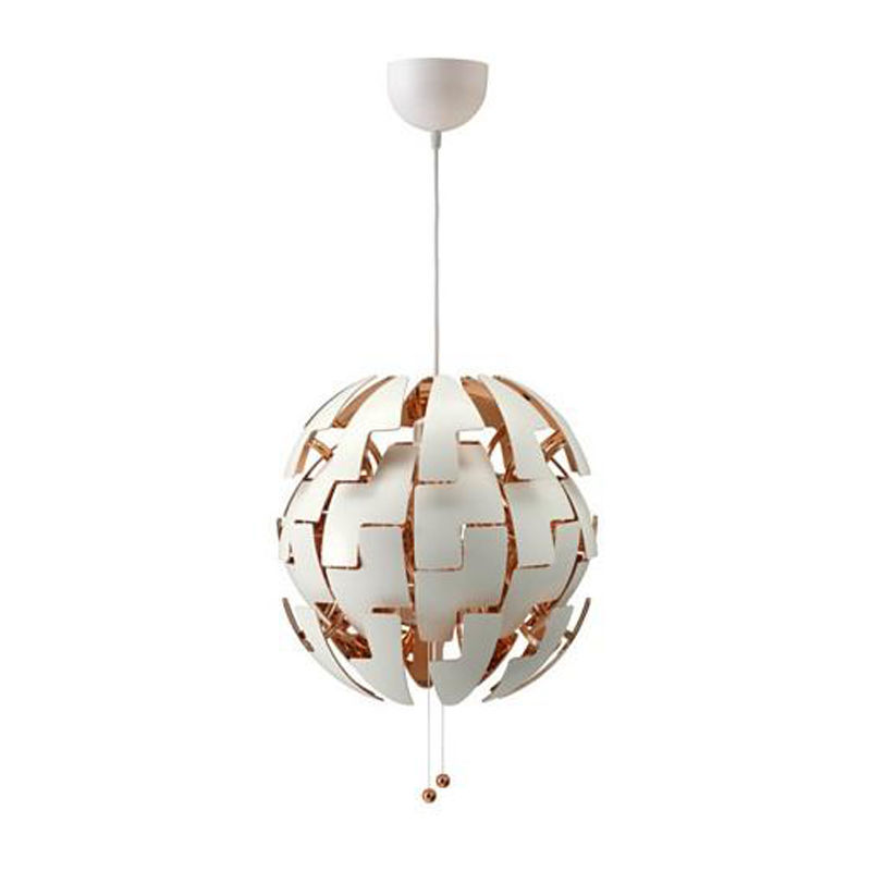 Nordic Art White Ball Ceiling Lamp Light Metal Cover Pendant Lighting