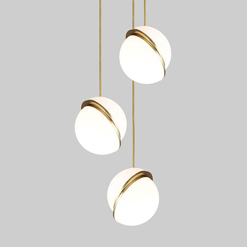 Modern Crescent Acrylic Ball Pendant Lamp Ceiling Lighting