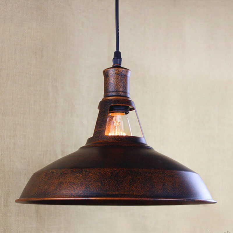 Industrial Rustic Pendant Lamp Chandelier Antique Copper Ceiling Light